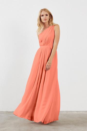 chiffon bridesmaid dresses savannah bridesmaid dress in coral in chiffon rbkuuly