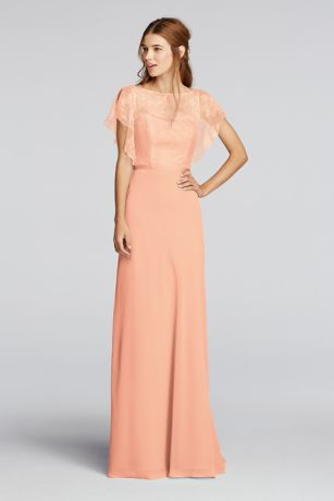 chiffon dress long blue soft u0026 flowy wonder by jenny packham bridesmaid dress yzoiedf