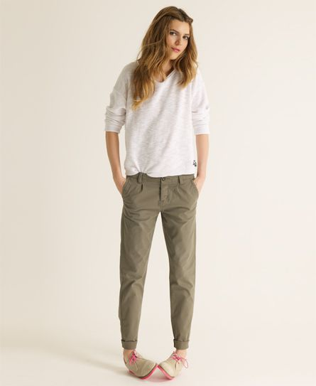 chinos for women superdry classic chinos. i like how the cuff makes it tapered rbhovfa