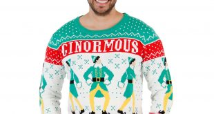 elf ginormous christmas sweater hjstxwx
