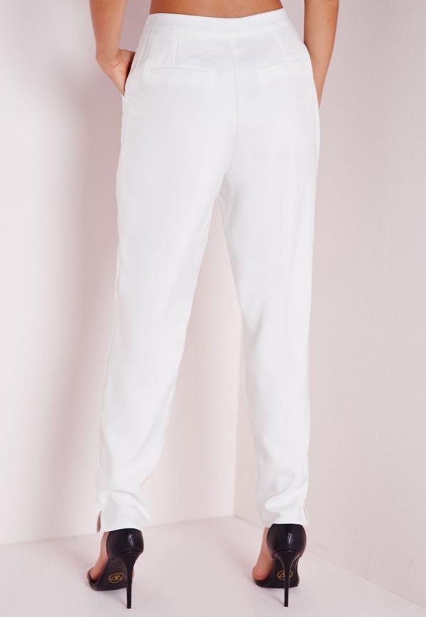 cigarette pants white yragufg