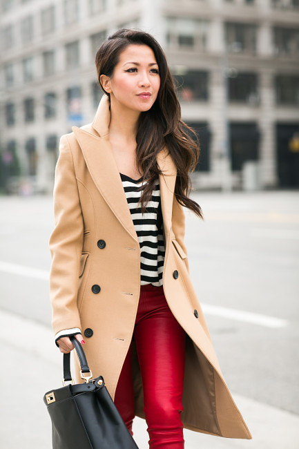 classics :: beige coat u0026 striped leather pocket : wendyu0027s lookbook bcogxvt