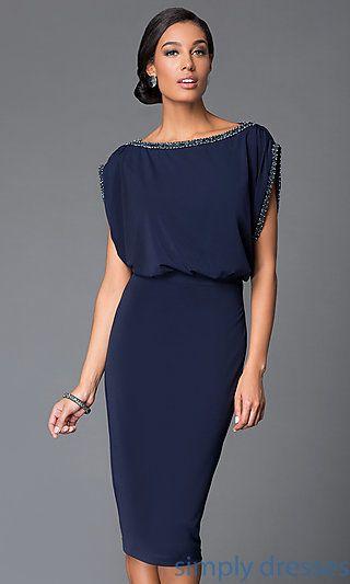 cocktail dresses evening wear dresses, formal, prom dresses, evening wear: knee length popover dress nsesckr