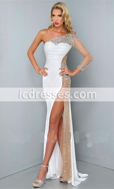 cocktail dresses evening wear sexy one shoulder prom gowns formal evening dresses long crystal dresses  party rrwlxbw