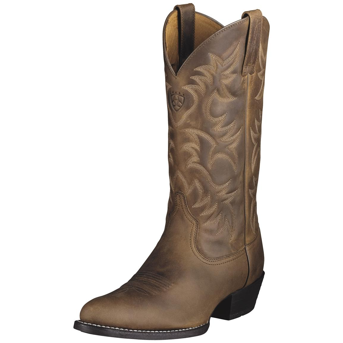 ariat cowboy boots menu0027s ariat® 13 inch heritage western r-toe cowboy boots, distressed brown  ... bqybsaw