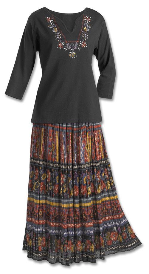 crinkle broomstick skirt ebevatd