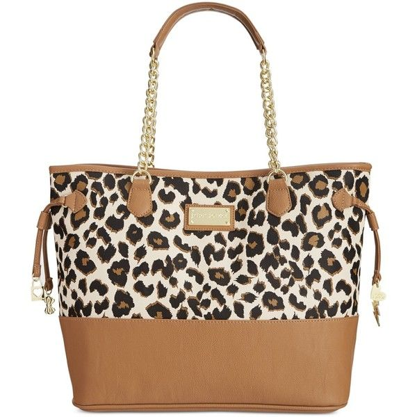cute bags betsey johnson macyu0027s exclusive leopard tote featuring polyvore, fashion,  bags, handbags, tote idrvmul