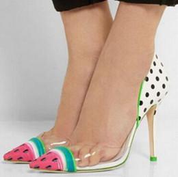 cute high heels new high heels ladies wedding shoes woman cute watermelon color dot women aifvsuj
