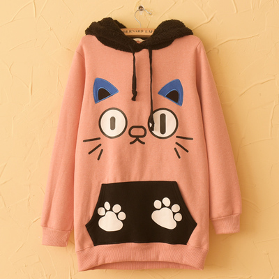 cute hoodies harajuku cute cat hoodies khafcef