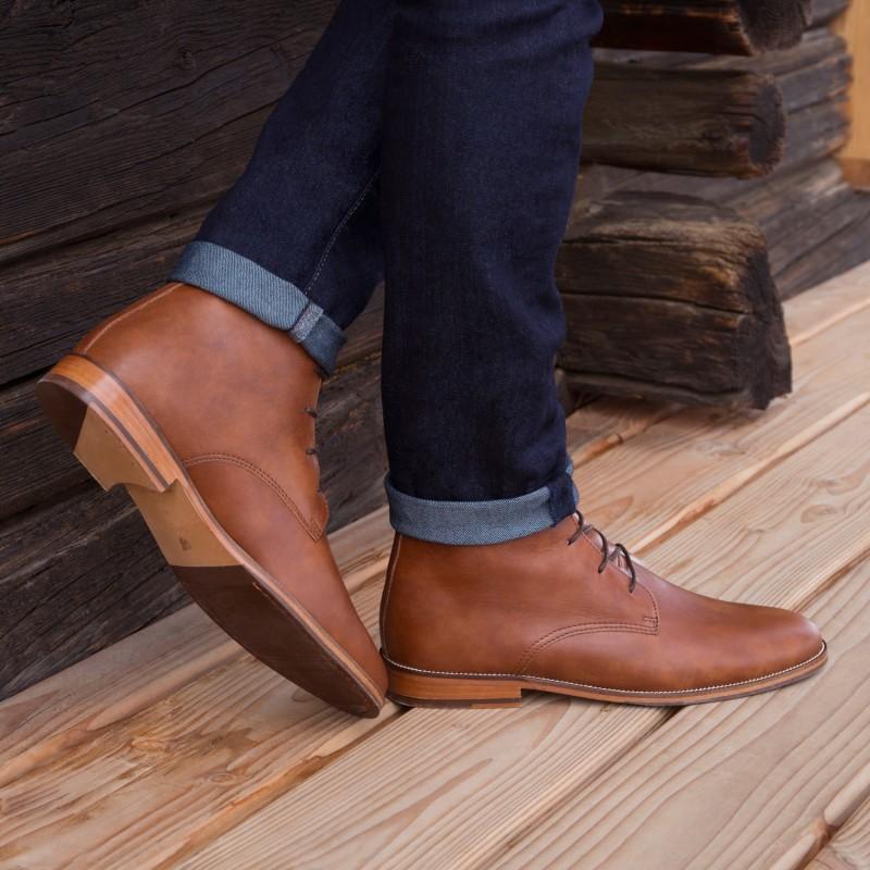 desert boots, chukka boots u0026 lace up boots : lu0027explorateur - cognac zfnauyv