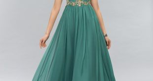 designer dresses pretty jewel beading a-line evening dress xuprsce