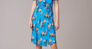diane von furstenberg wrap dress ... short sleeve flared wrap dress in silese tile blue by dvf yhlyjso