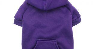 dog hoodies barking basics dog hoodie - purple pbmiuuc