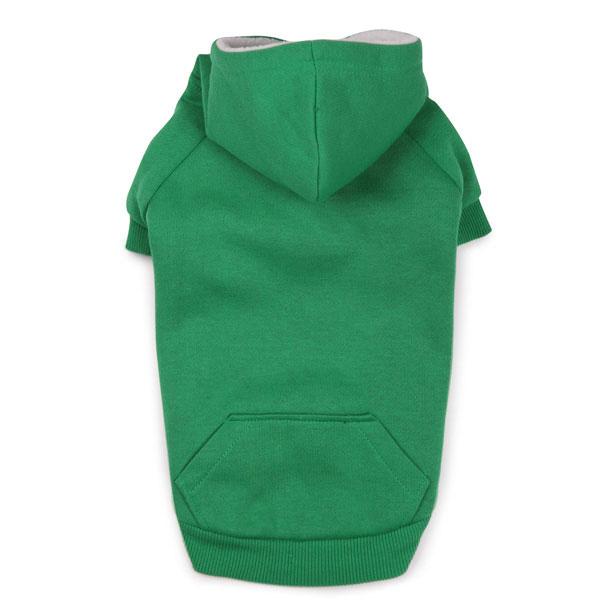 dog hoodies fleece lined dog hoodie by zack u0026 zoey - green ... jsyoftp