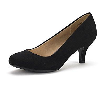 dream pairs luvly womenu0027s bridal wedding party low heel pump shoes black mvxksgy