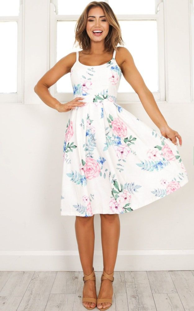 spring outfits- easter dresses -- one reason dress in white floral scbziwo