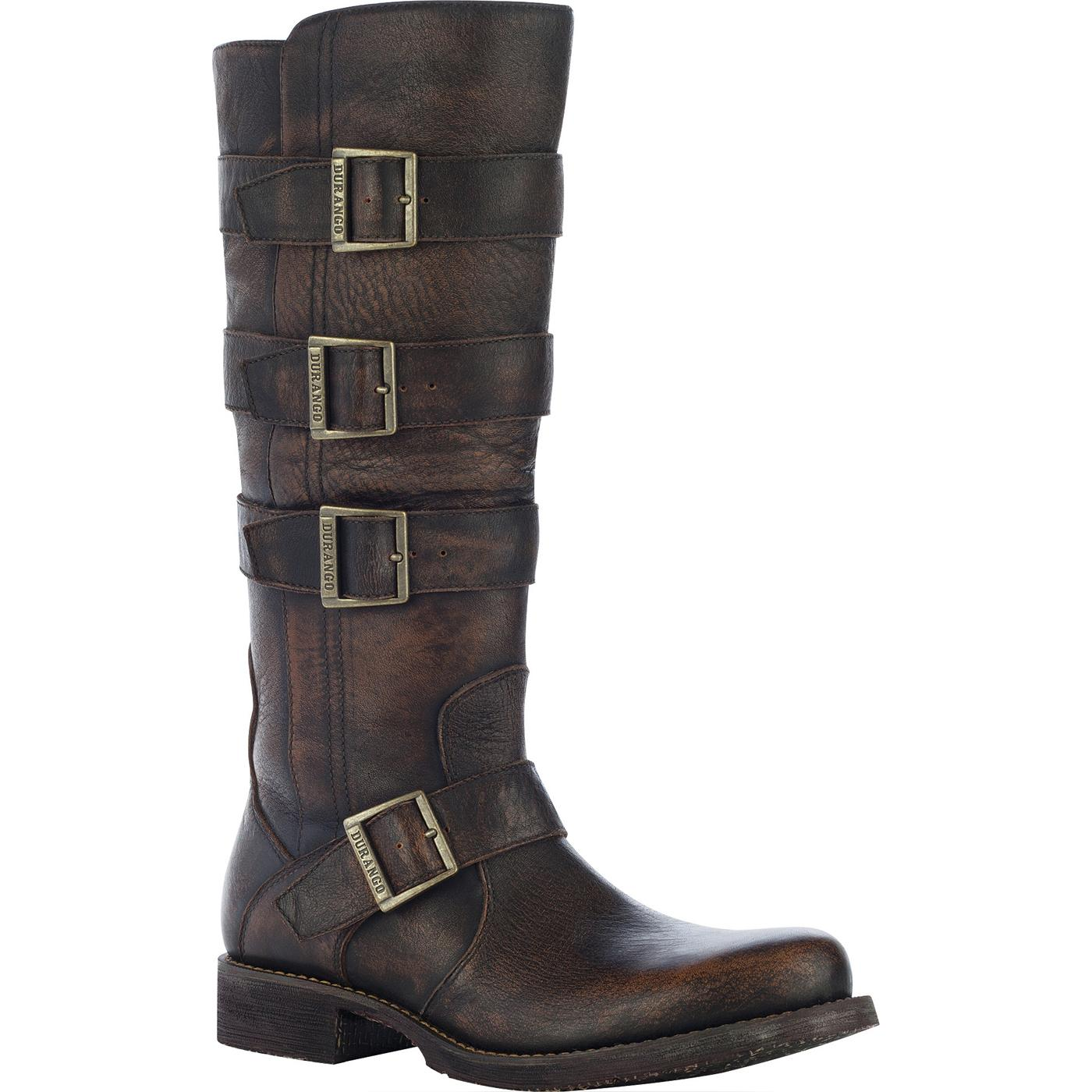 engineer boots durango city womenu0027s savannah engineer boot, brown, large odhnual