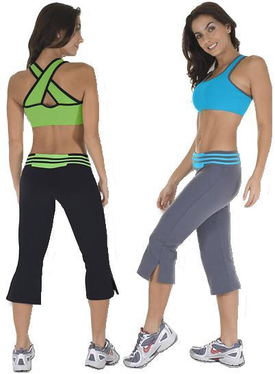 exercise clothes nina bucci dual capri-100940 women workout wear cwfhuia
