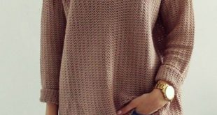 fall sweaters coffee plain hollow-out v-neck long sleeve loose vintage casual pullover  sweater ezdctxb