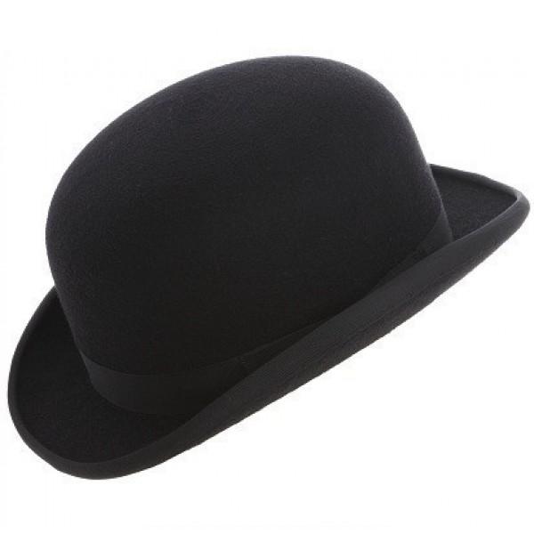 fashion bowler hat - black yuxhgyv
