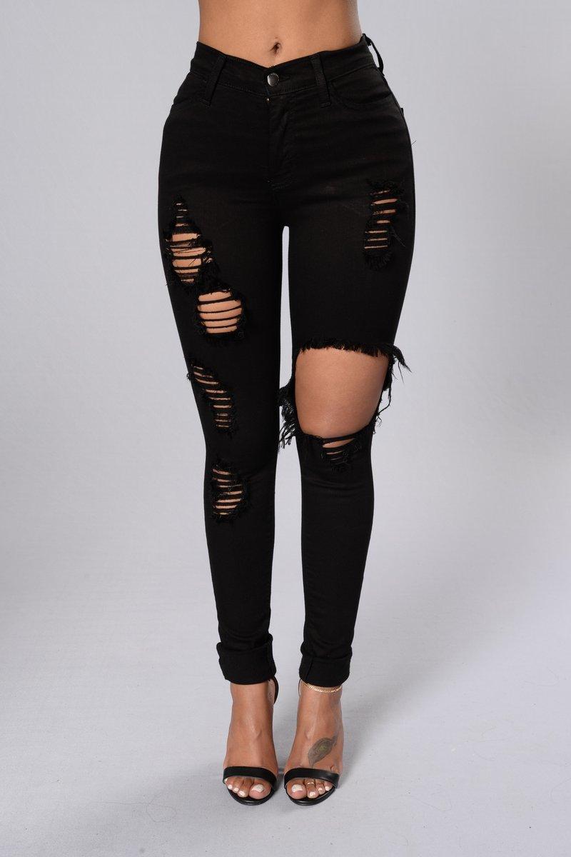 fashion jeans glistening jeans - black msclhgx