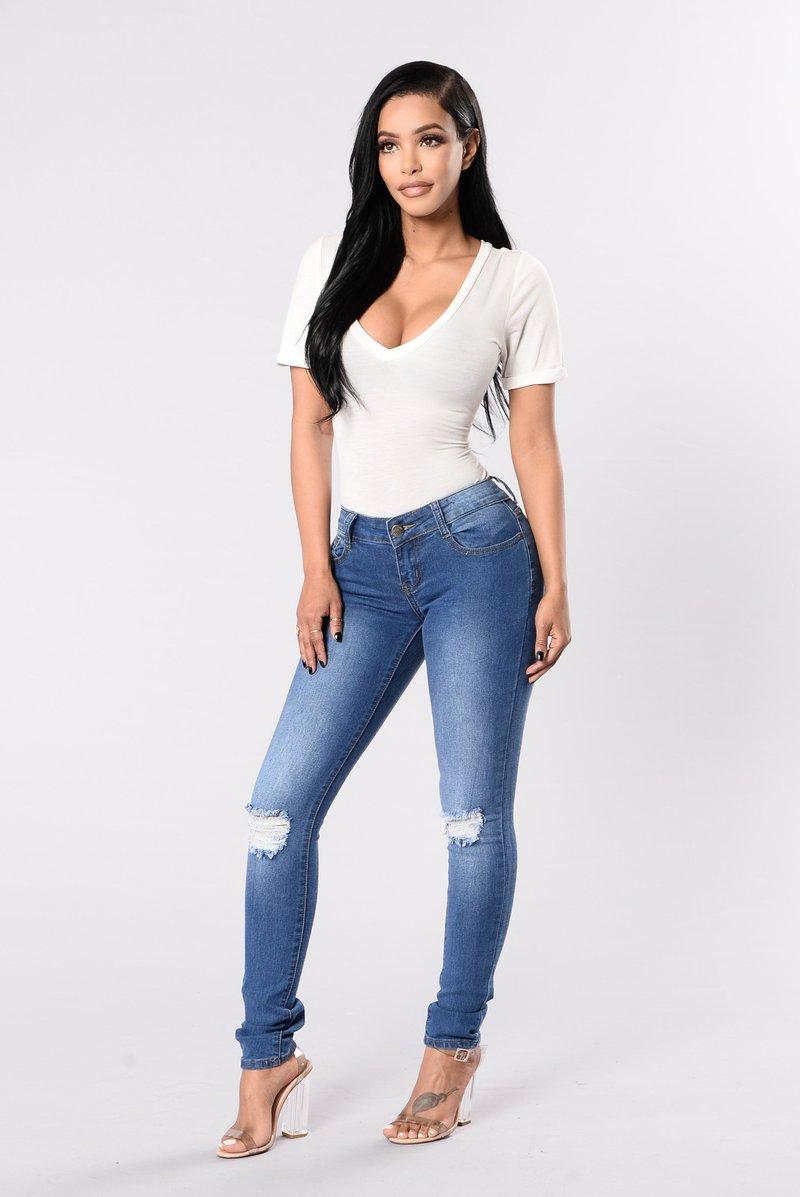 fashion jeans i knee you now jeans - medium wash xgobvec