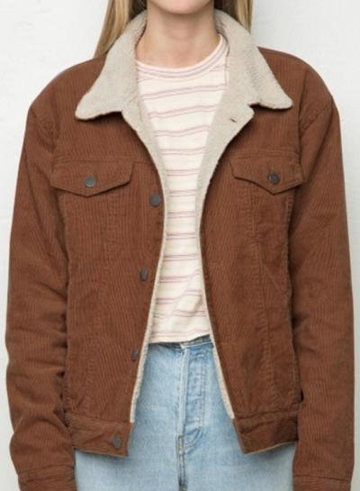 fashion turn down collar corduroy jacket - oasap.com bevkzgo