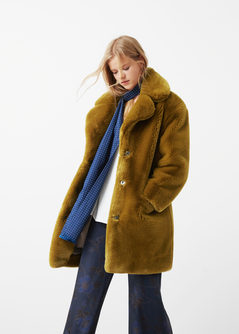 faux fur jacket faux fur coat | mango cxxuhrh