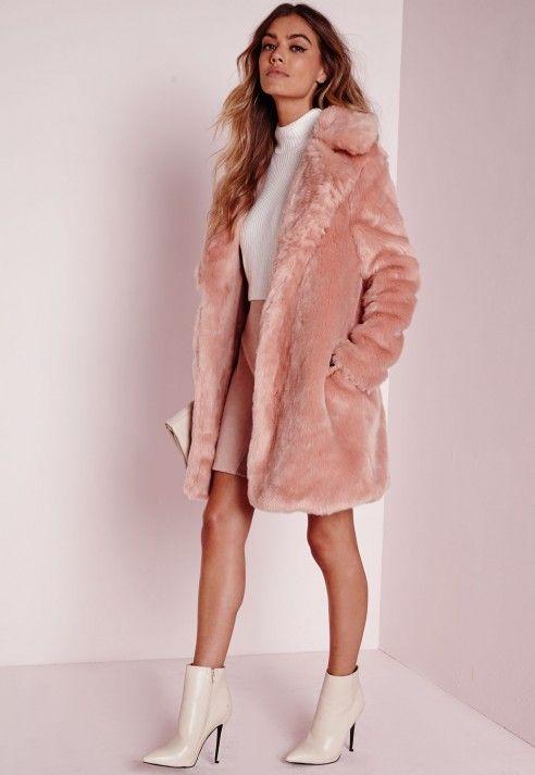 faux fur jacket pink faux fur coat. tafcngy