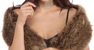 natural faux fur scarf vibmqgt