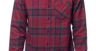 volcom 18 to life burgundy flannel shirt yegswpk