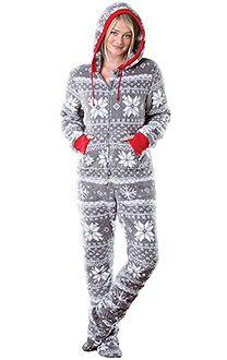 footed pajamas for women hoodie-footie™ - women, footie pjs for women, footed pajamas | pajamagram emedjfy