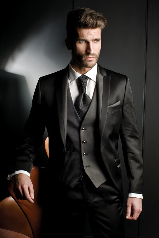 formal suits cheap new black men suits for wedding satin peaked lapel grooms tuxedos brpmpne