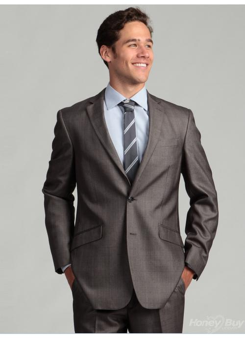 formal suits two buttons notch lapel good vension fashion fabrics smooth grey solid mens formal xamucft