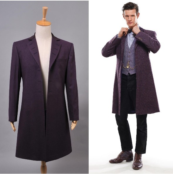 new arrival who is doctor eleventh 11th dr. purple wool frock coat cllzsle