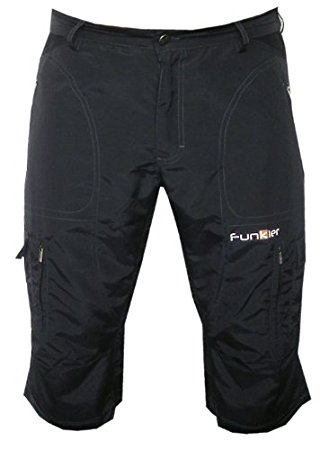 funkier bike menu0027s 3/4 baggy mountain bike shorts, black, medium hdnnalt
