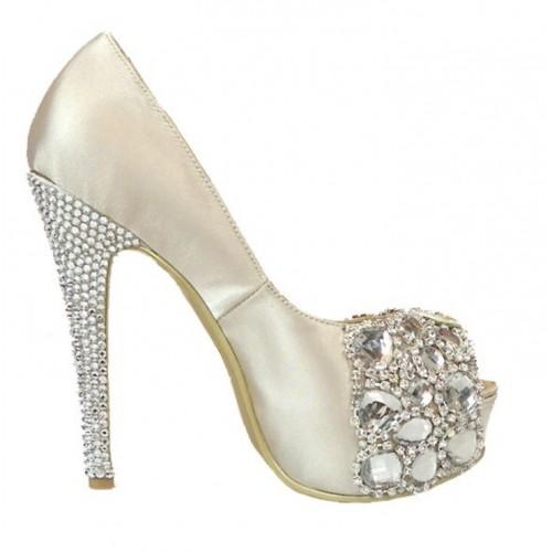 gina shoes rockstar satin peep toe shoe prcvowp