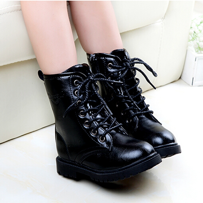 girl boots spring autumn fashion children shoes girls bota menina waterproof leather  kids boots orcvpnw
