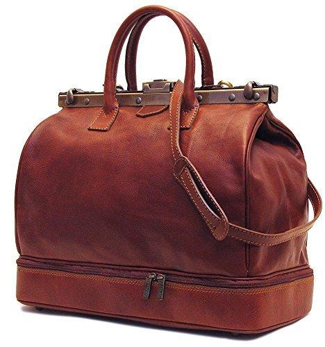 gladstone bag floto positano gladstone travel bag in saddle brown italian calfskin leather exxgjdn