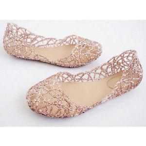 glitter flats image is loading womens-crystal-slip-on-shoes-soft-rubber-glitter- kvfkbjh