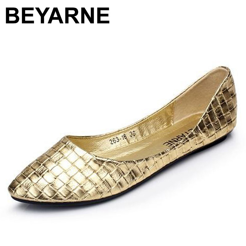 gold flats beyarne plus size 35-41 fashion flats gold silver flats for womenu0027s flat vertamt