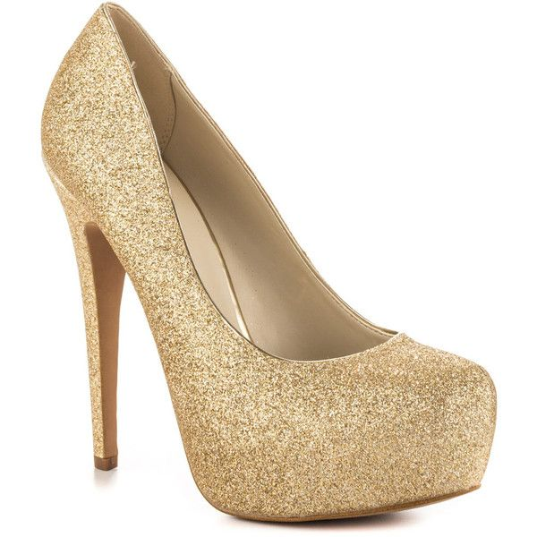 gold high heels aldo womenu0027s frius - champagne ($80) ❤ liked on polyvore featuring shoes, citszxl