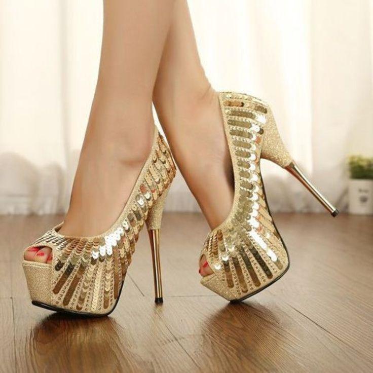 best 25+ gold heels ideas on pinterest | gold pumps, gold high heels bdrmbpq