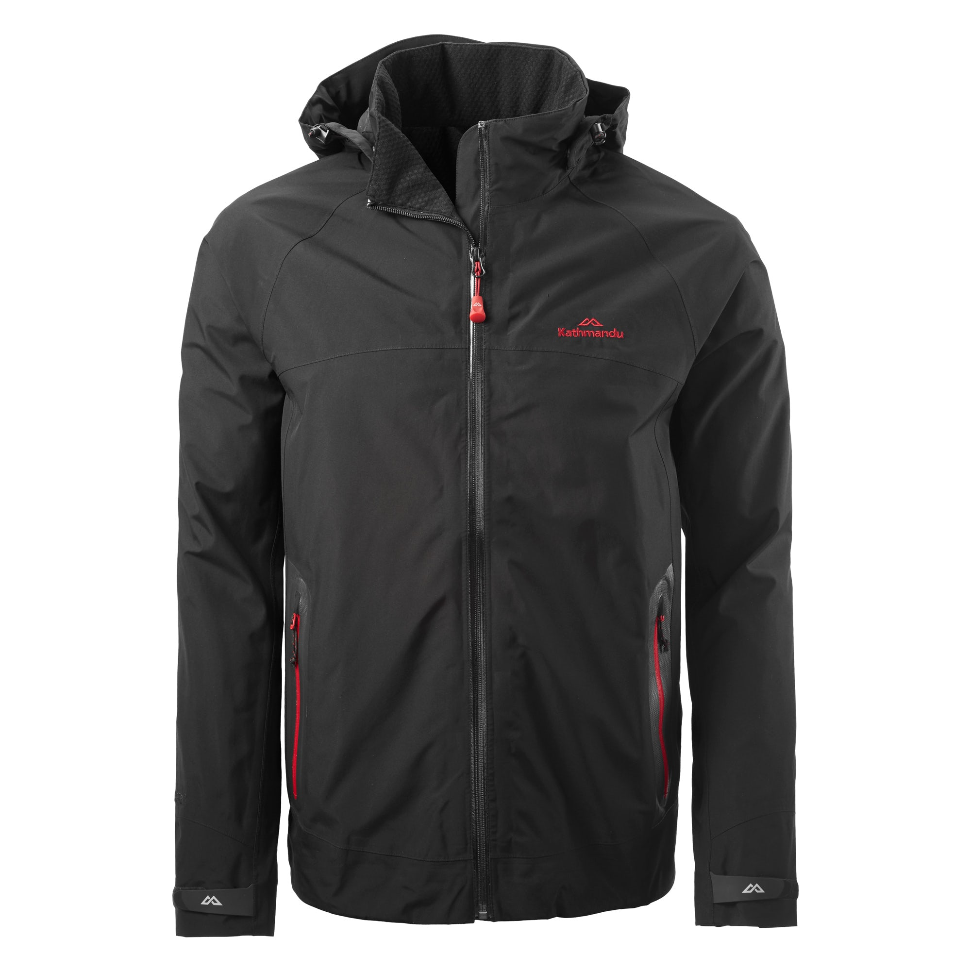 gore tex jacket kathmandu blackburn mens gore tex 2 layer waterproof hooded jacket black fsnwugi