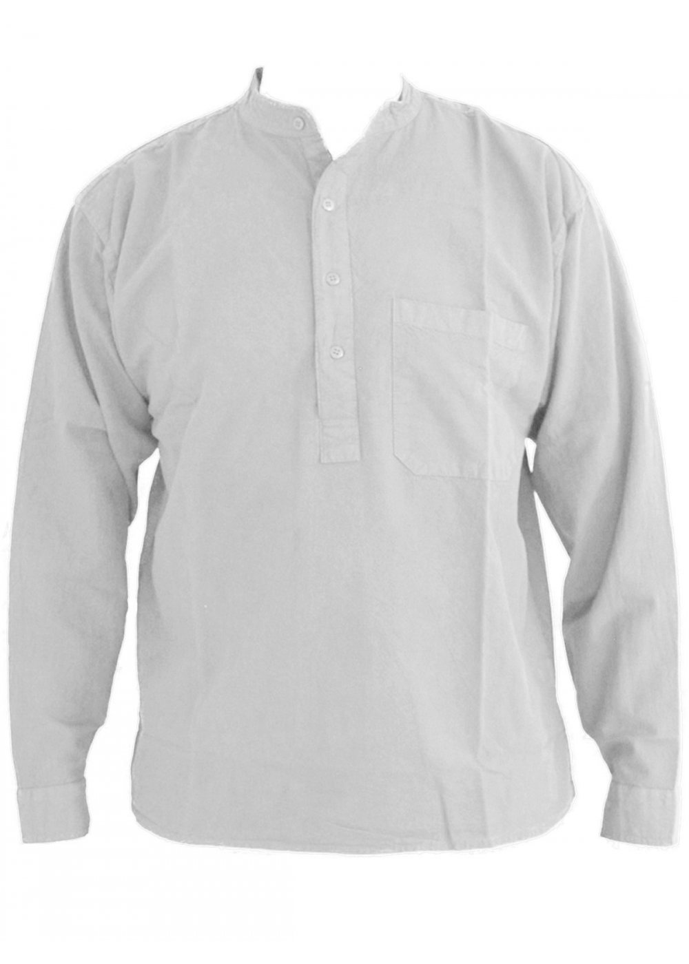 grandad shirt plain-heavy-collarless-grandad-shirt-sizes-small-to- emsfqtl