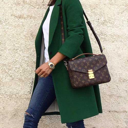 green coat green-coat-with-louis-vuitton-bag- how to look stylish sosyijn