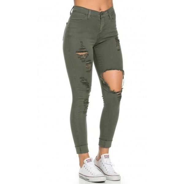green skinny jeans 200+ cute ripped jeans outfits for winter 2017 aznnizv