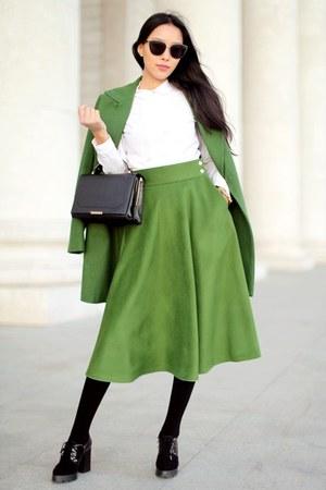 green skirt green atani skirt - black freyrs sunglasses bqxcirz
