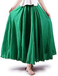 green skirt womenu0027s bohemian style elastic waist band cotton long maxi skirt dress gdojkea