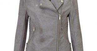 grey leather jacket miss selfridge grey faux leather biker ($64) ❤ liked on polyvore featuring mhtpedz